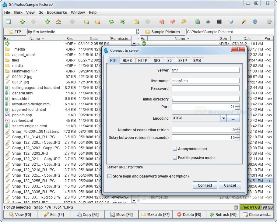 screenshot of muCommander