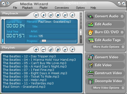 screen capture of CDH Media Wizard