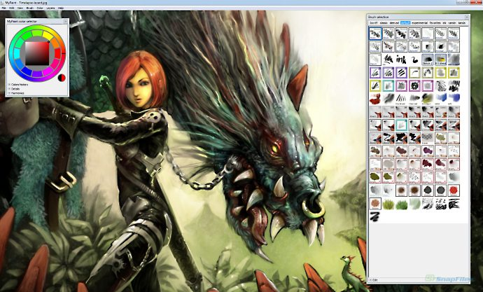 Mypaint screenshot and download at Digital art painting software