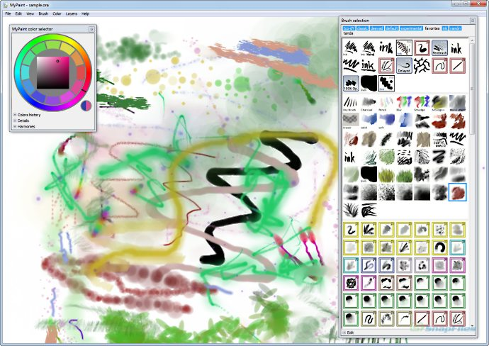 screenshot of MyPaint