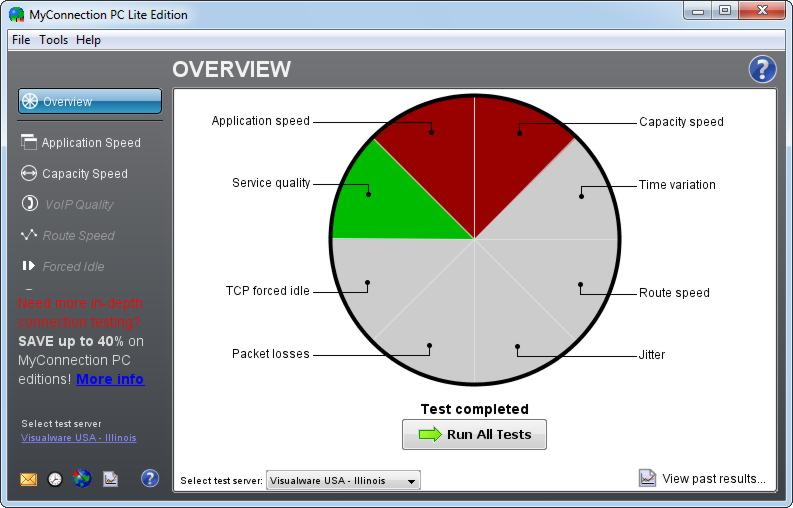 screen capture of MyConnection PC Lite