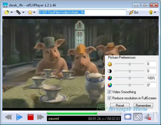 screenshot of nFLVPlayer