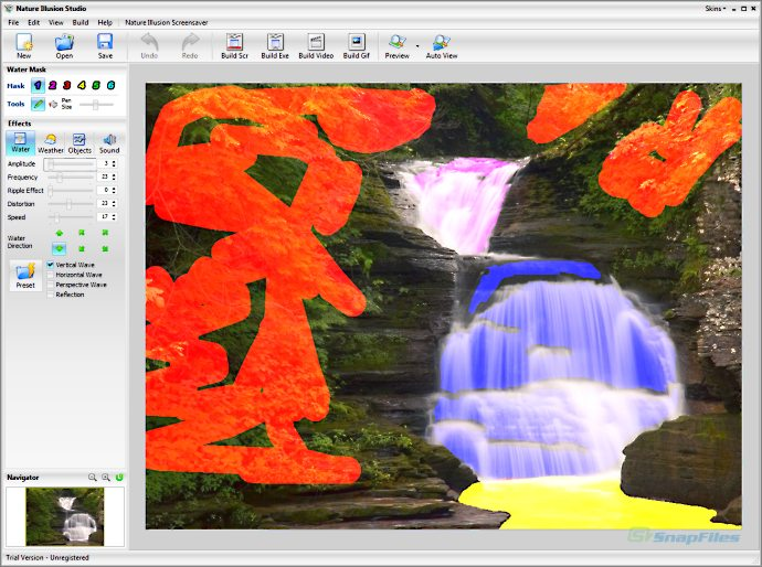 screenshot of Nature Illusion Studio