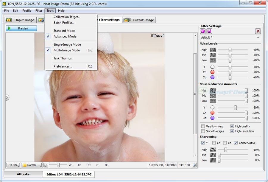 screenshot of Neat Image