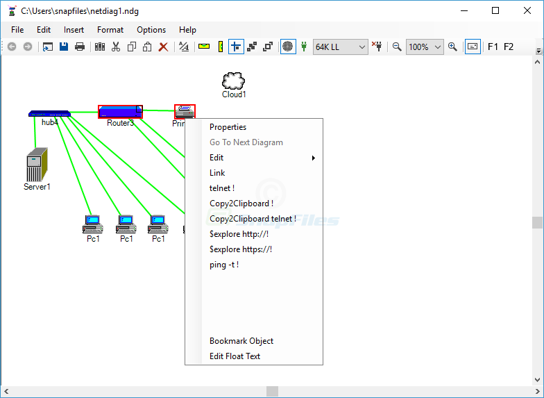 screen capture of Network Notepad