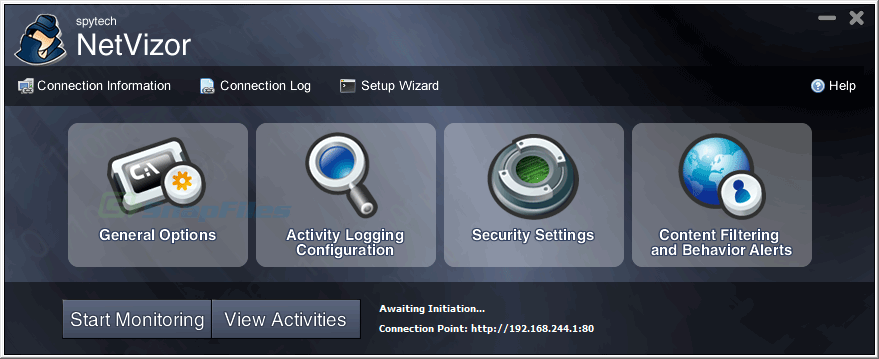 screen capture of NetVizor