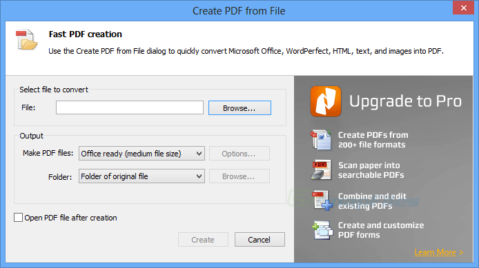 screenshot of Nitro PDF Reader