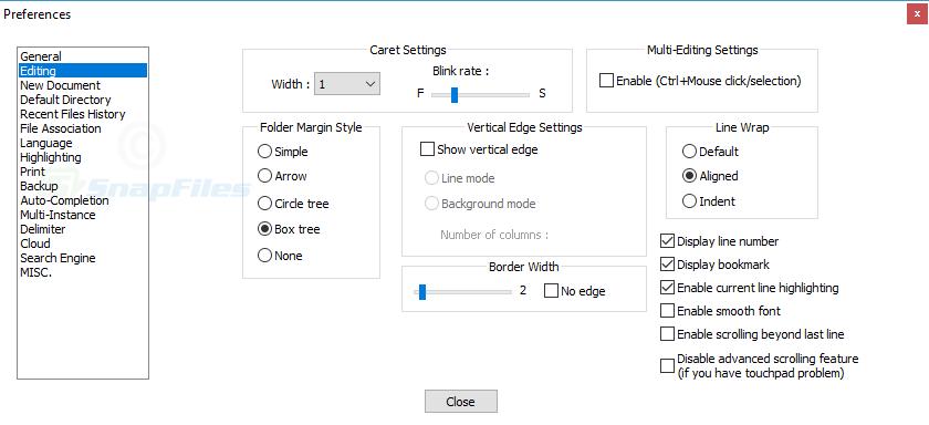 screenshot of Notepad ++