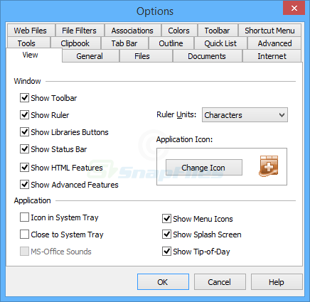 screenshot of NoteTab Light
