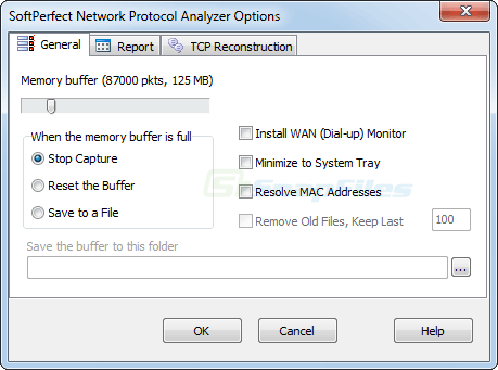 screenshot of SoftPerfect Network Protocol Analyzer
