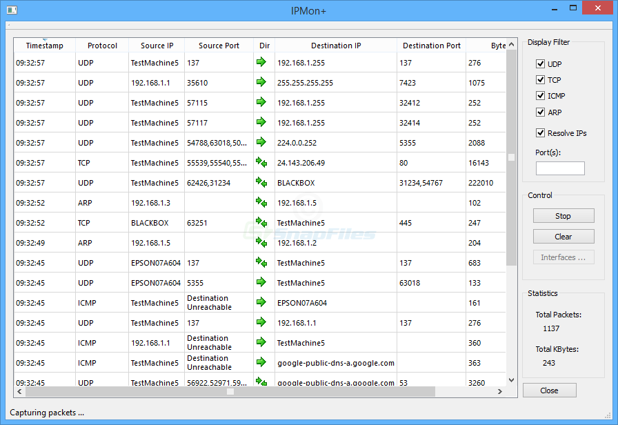 screen capture of EventSentry SysAdmin Tools