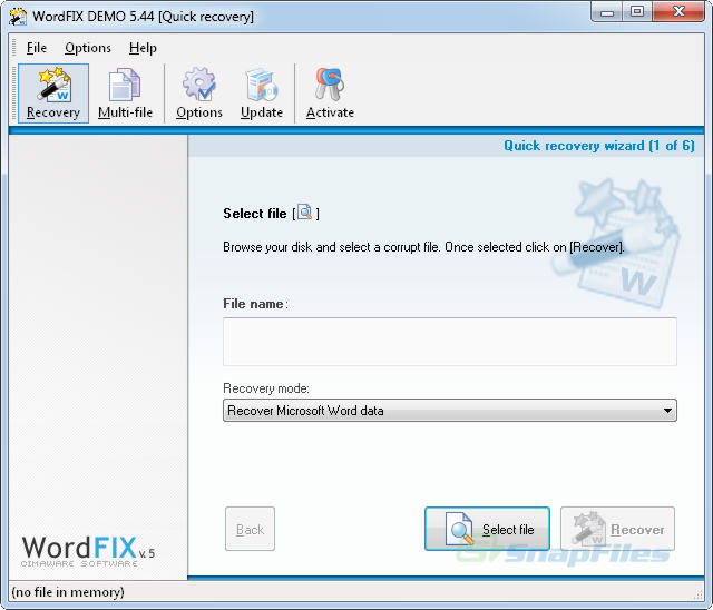 screenshot of OfficeFIX