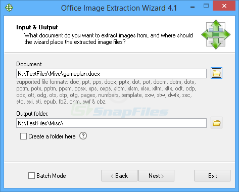 screen capture of Office Image Extraction Wizard