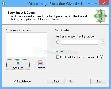 screenshot of Office Image Extraction Wizard