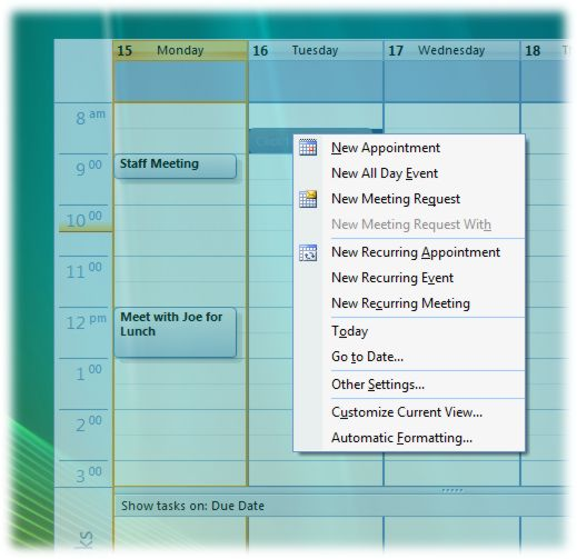 screenshot of Outlook on the Desktop