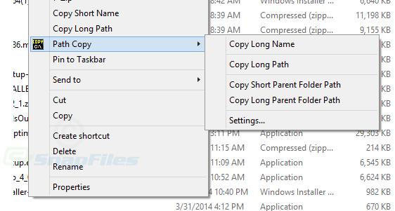 screen capture of Path Copy Copy