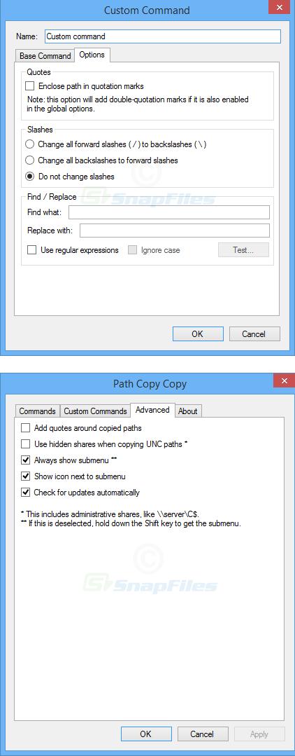 screenshot of Path Copy Copy