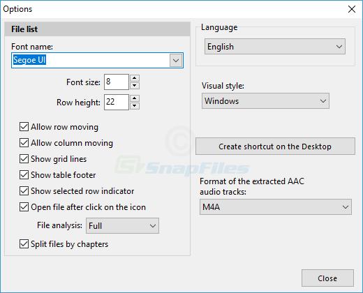 screenshot of Pazera Free Audio Extractor