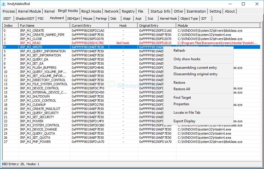 screenshot of PC Hunter