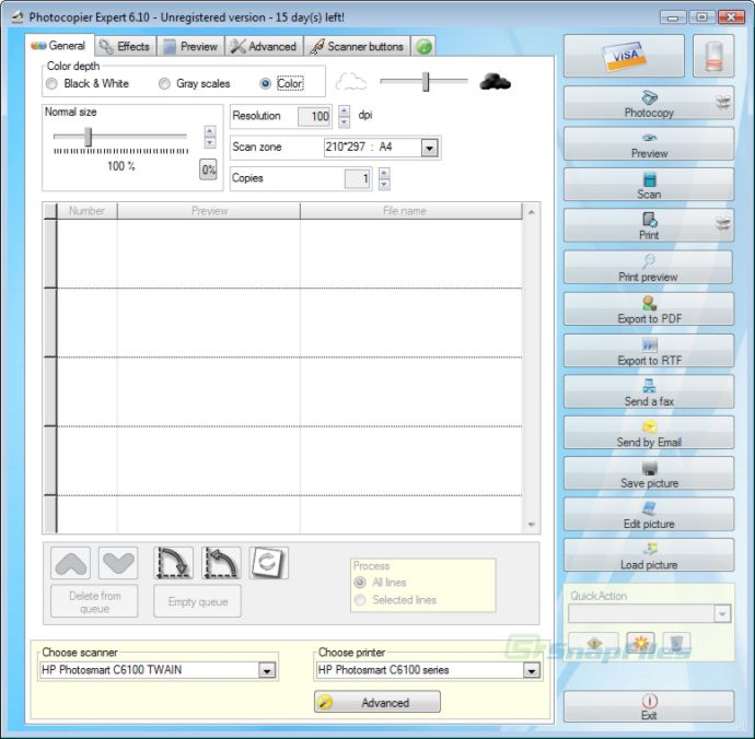 screenshot of Photocopier Expert