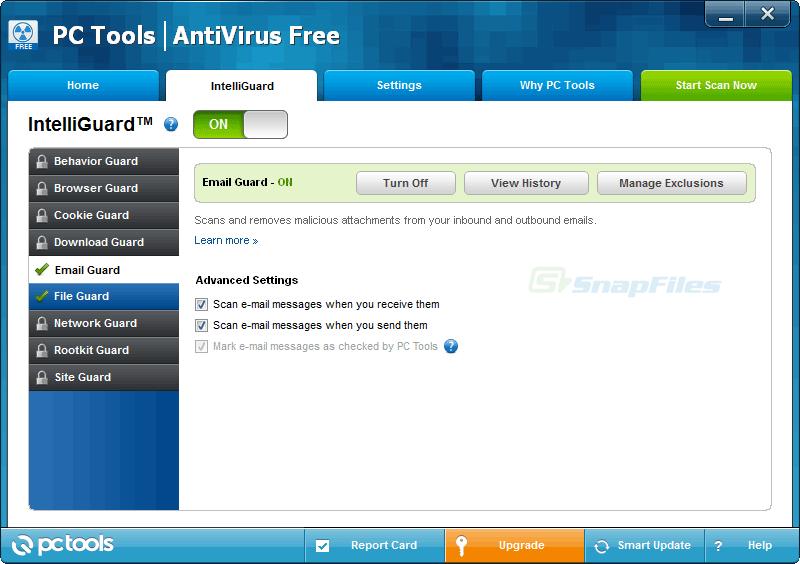 screenshot of PC Tools AntiVirus Free Edition