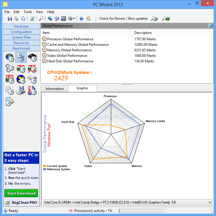 screenshot of PC Wizard