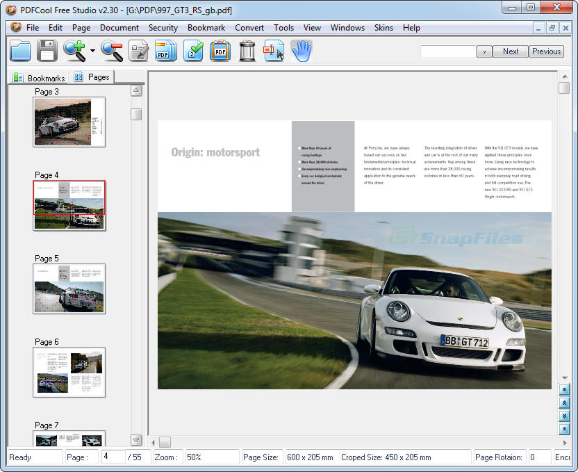 screen capture of PDFCool Free Studio