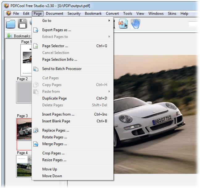 screenshot of PDFCool Free Studio