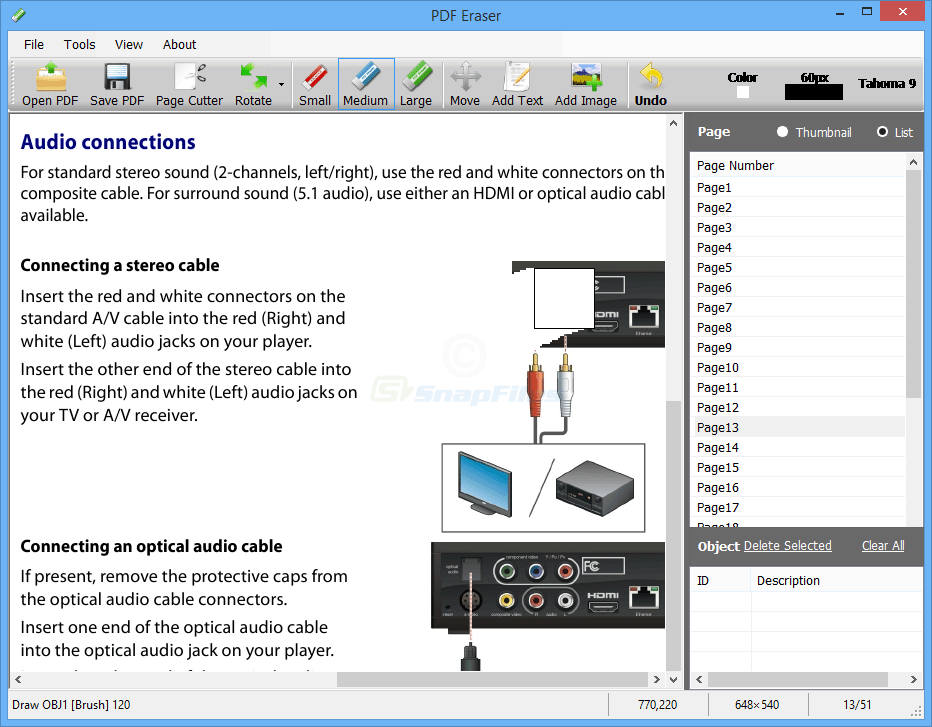 screen capture of PDF Eraser