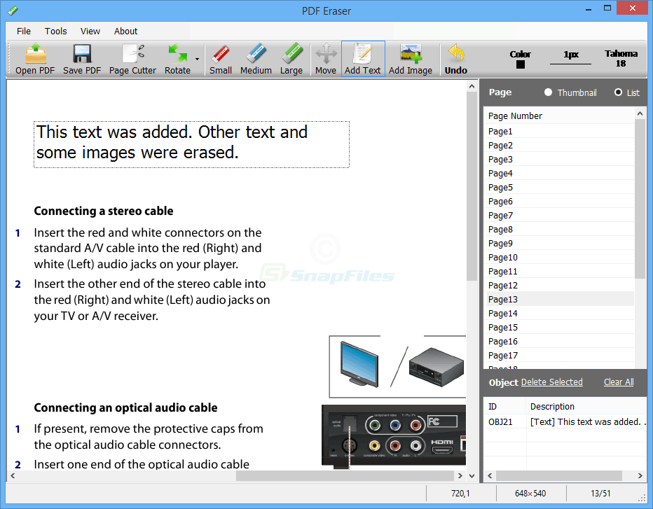 screenshot of PDF Eraser