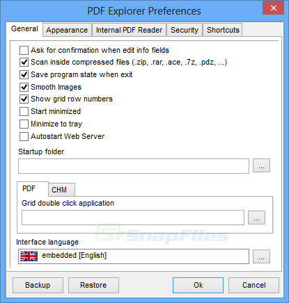 screenshot of PDF Explorer