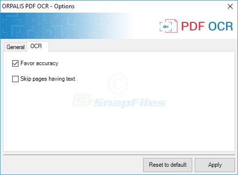 screenshot of ORPALIS PDF OCR