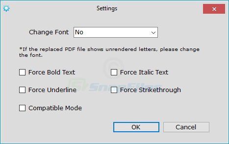 screenshot of PDF Replacer
