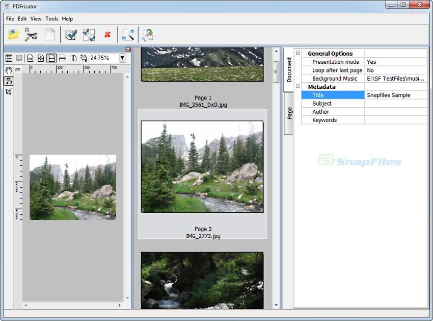 screen capture of PDFrizator