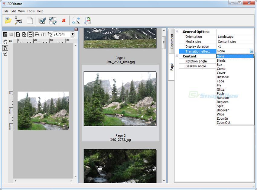 screenshot of PDFrizator