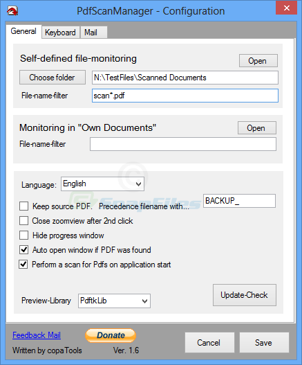 screenshot of PdfScanManager