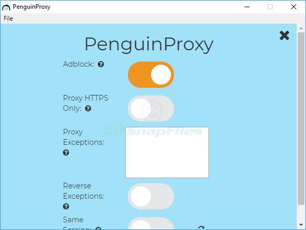 screenshot of PenguinProxy