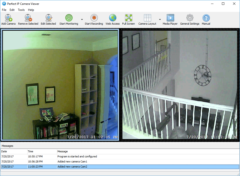 screen capture of Perfect IP Camera Viewer