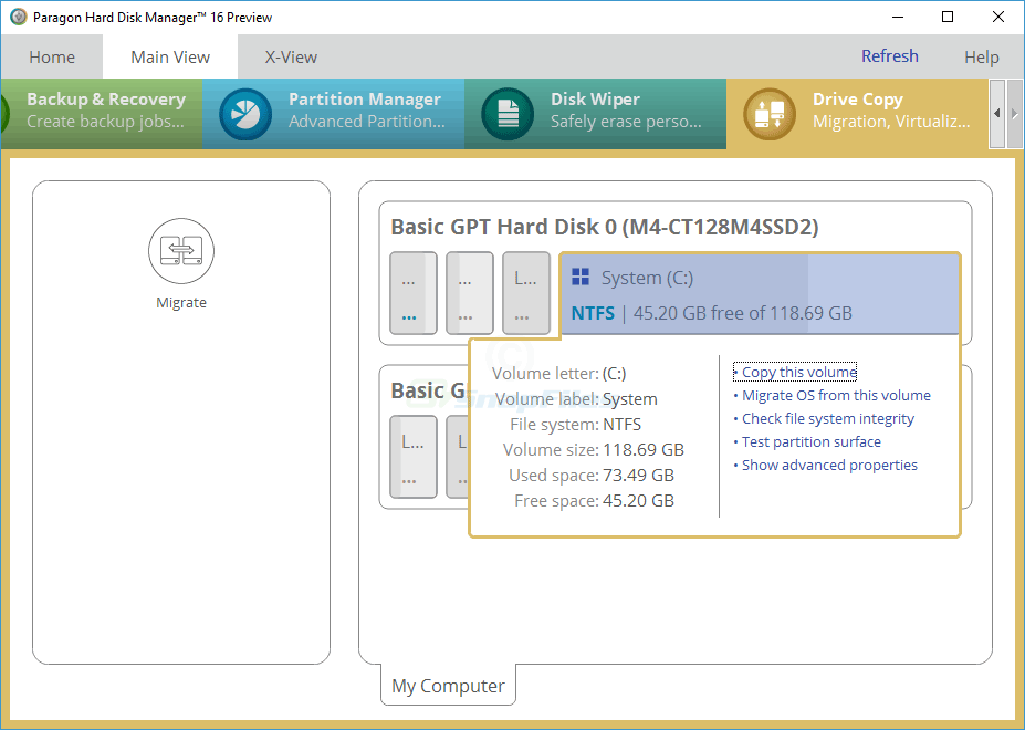 screenshot of Free Hard Disk Manager (Preview)