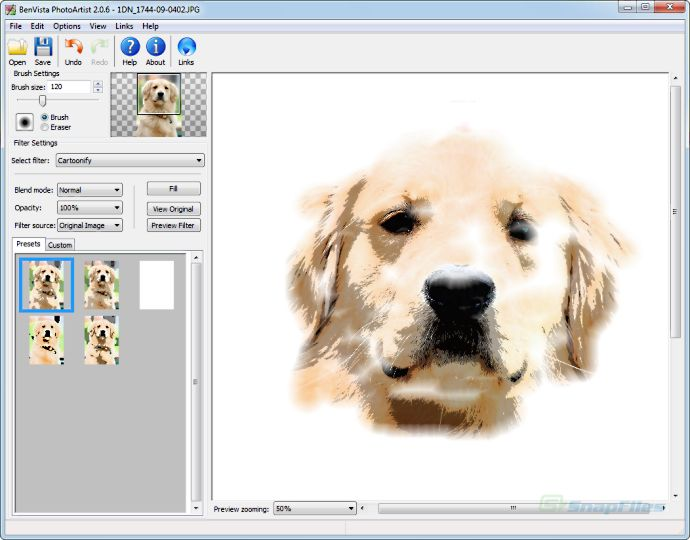 screenshot of PhotoArtist
