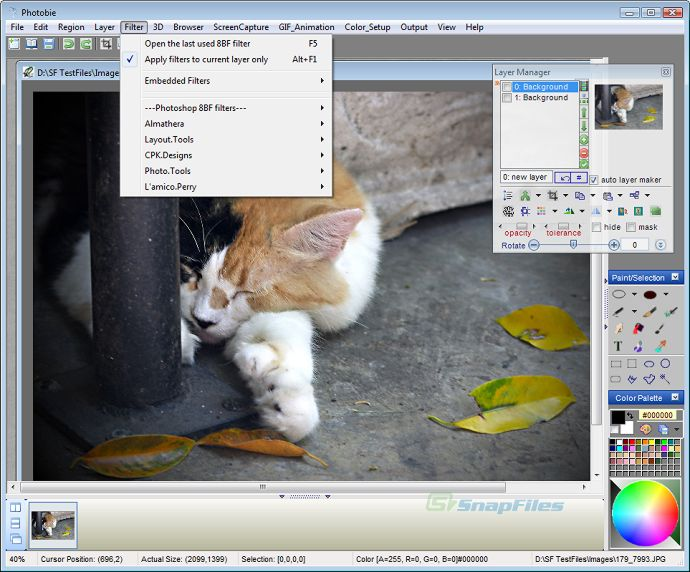 screenshot of Photobie