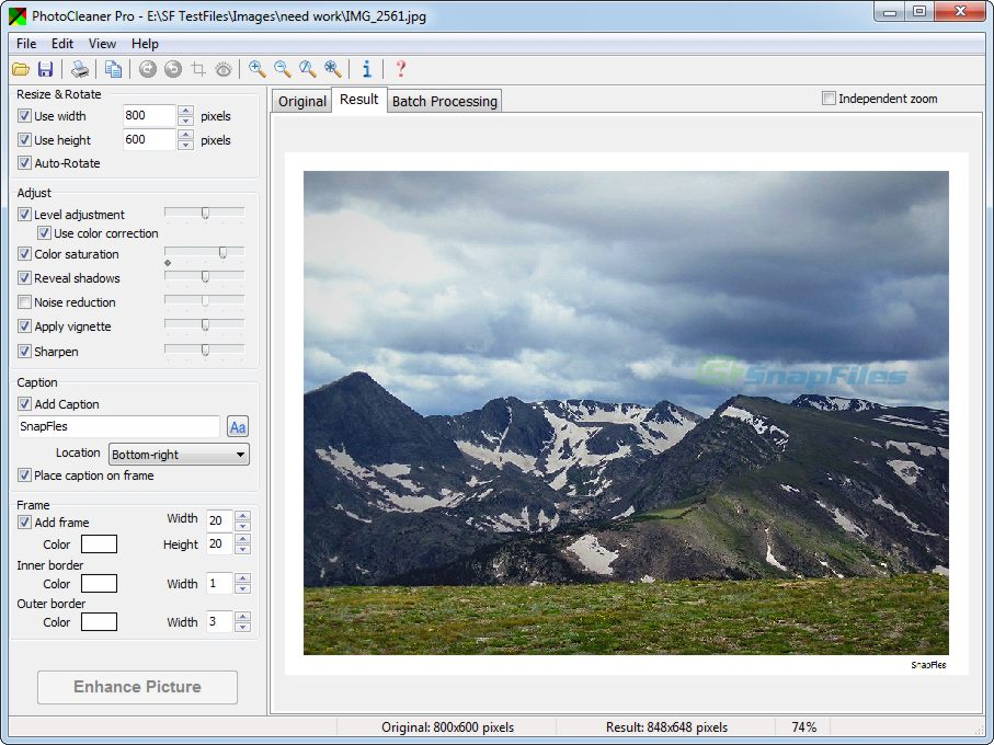 screenshot of PhotoCleaner