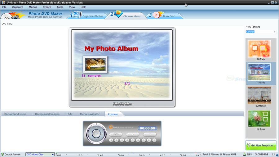 screenshot of AnvSoft Photo DVD Maker