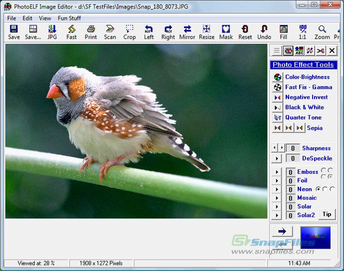 screen capture of PhotoELF