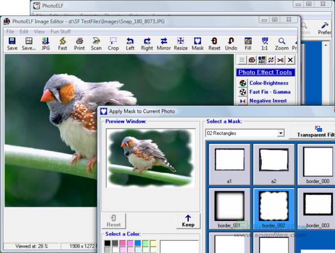 screenshot of PhotoELF