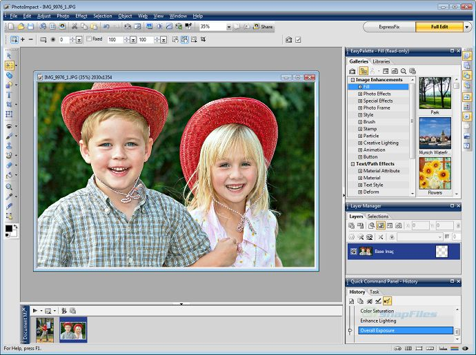 screen capture of Corel PhotoImpact