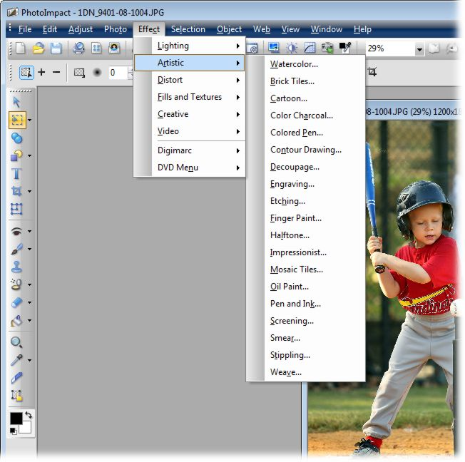 screenshot of Corel PhotoImpact