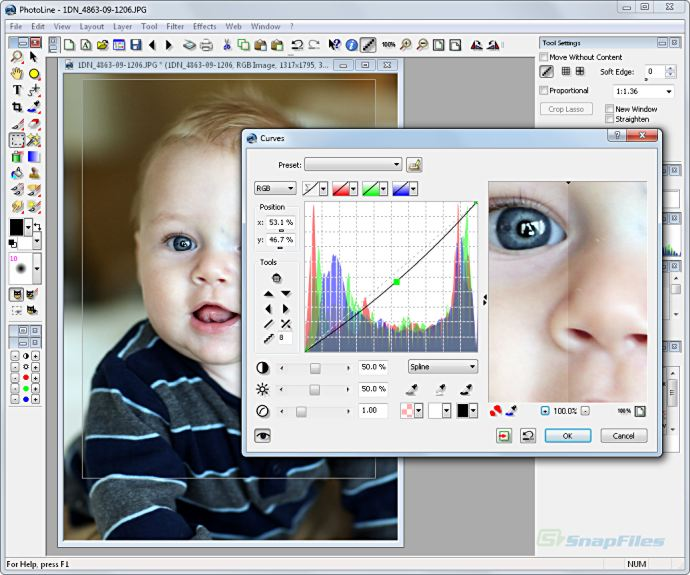 screenshot of PhotoLine