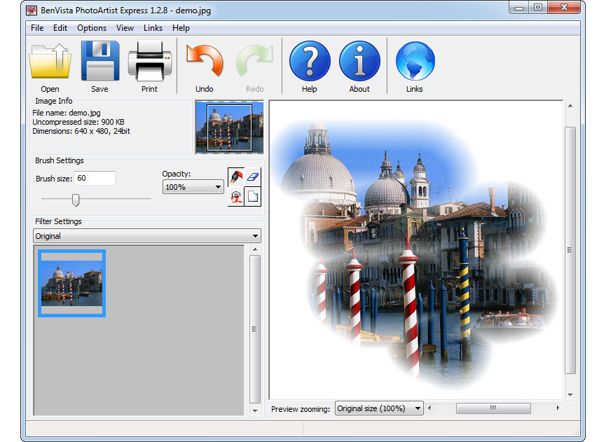 screenshot of PhotoMagic