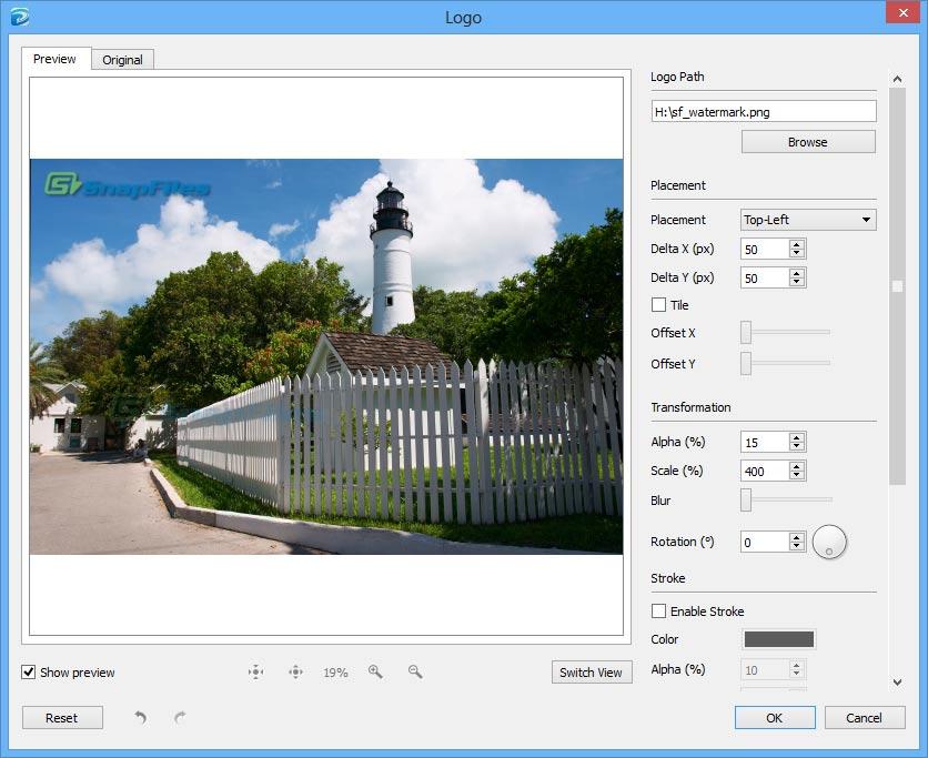 screenshot of PhotoMarks